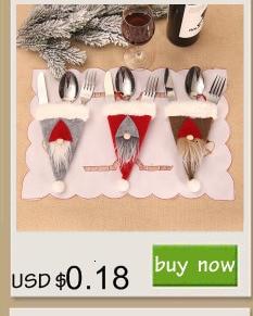 Шляпа Санты, олень, Рождество, Год, карманная вилка, нож, столовые приборы, держатель, сумка для дома, вечерние украшения стола, ужина, столовые приборы 62253