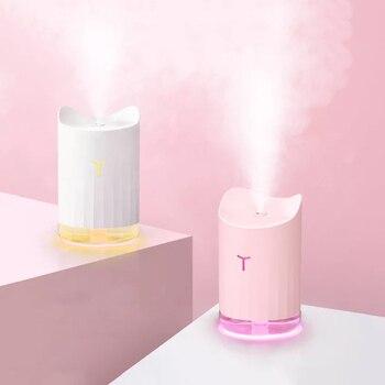 300ml USB Cat nawilżacz powietrza Aroma dyfuzor olejków eterycznych ultradźwiękowy mgła oświetlenie nocne led nawilżacz Fogger Christmas Gift w Nawilżacze powietrza od AGD na