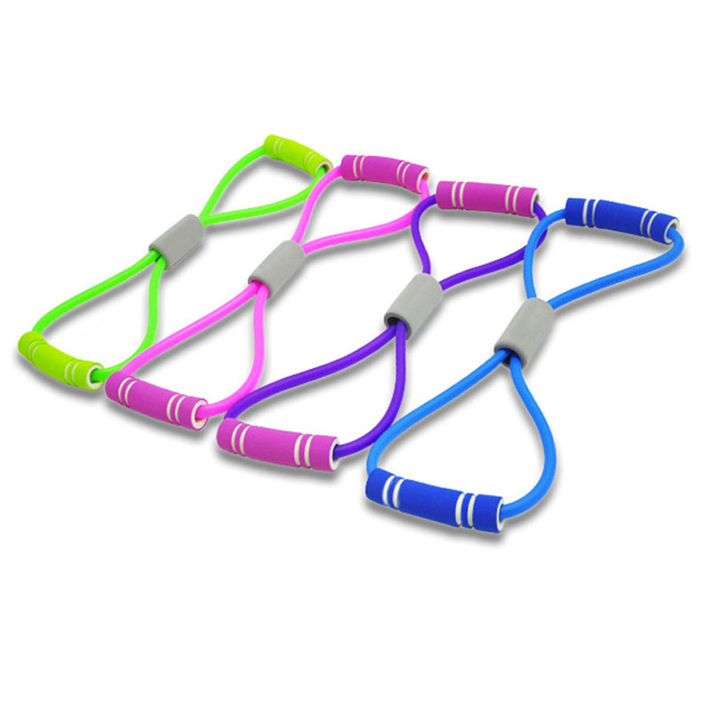 Yoga Resistance Bands Elastic Band Sports Exercise Puller 8shaped Chest Expander