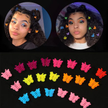 20/50 cor misturada borboleta grampos de cabelo aperto garra barrettes mini grampos mandíbula hairpin headdress acessórios de estilo de cabelo ferramenta