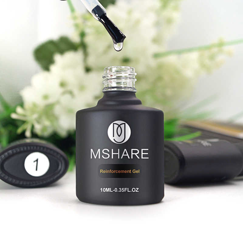 Mshare Versterking Gel Polish Base Top Coat Uv Gel Matt Tops Primer Geen Schoon Veeg Kleverige Laag Gehard Top Jas nail 10 Ml