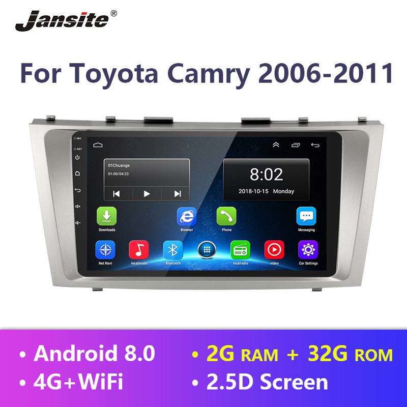 Jansite 9 Car Radio  For Toyota Camry 2006 2007 2008 2009 2010 2011 Android 8.1 Player Touch screen two DIN multimedia players