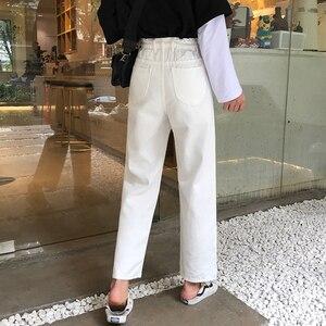 Image 3 - Quần Jeans Nữ Bông Tai Kẹp Chắc Chắn Nút Khóa Dây Kéo Cao Cấp Giải Trí Thẳng Nữ Nữ Thanh Lịch Quần Jean Femme Chất Lượng Cao
