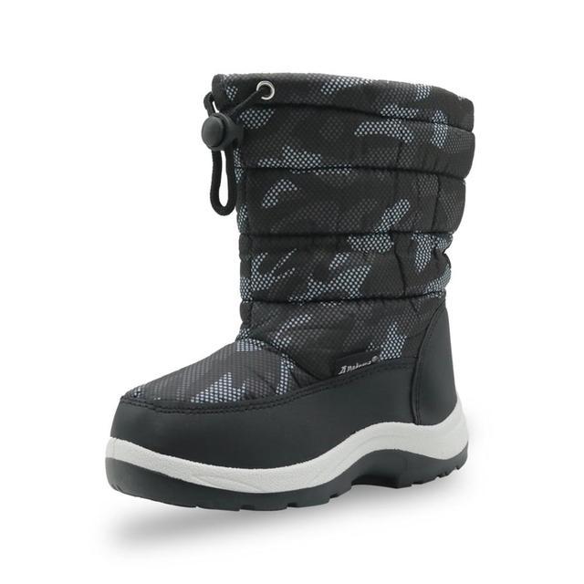 Детские Нескользящие камуфляжные ботинки для альпинизма для маленьких мальчиков и малышей теплые плюшевые зимние ботинки до середины икры