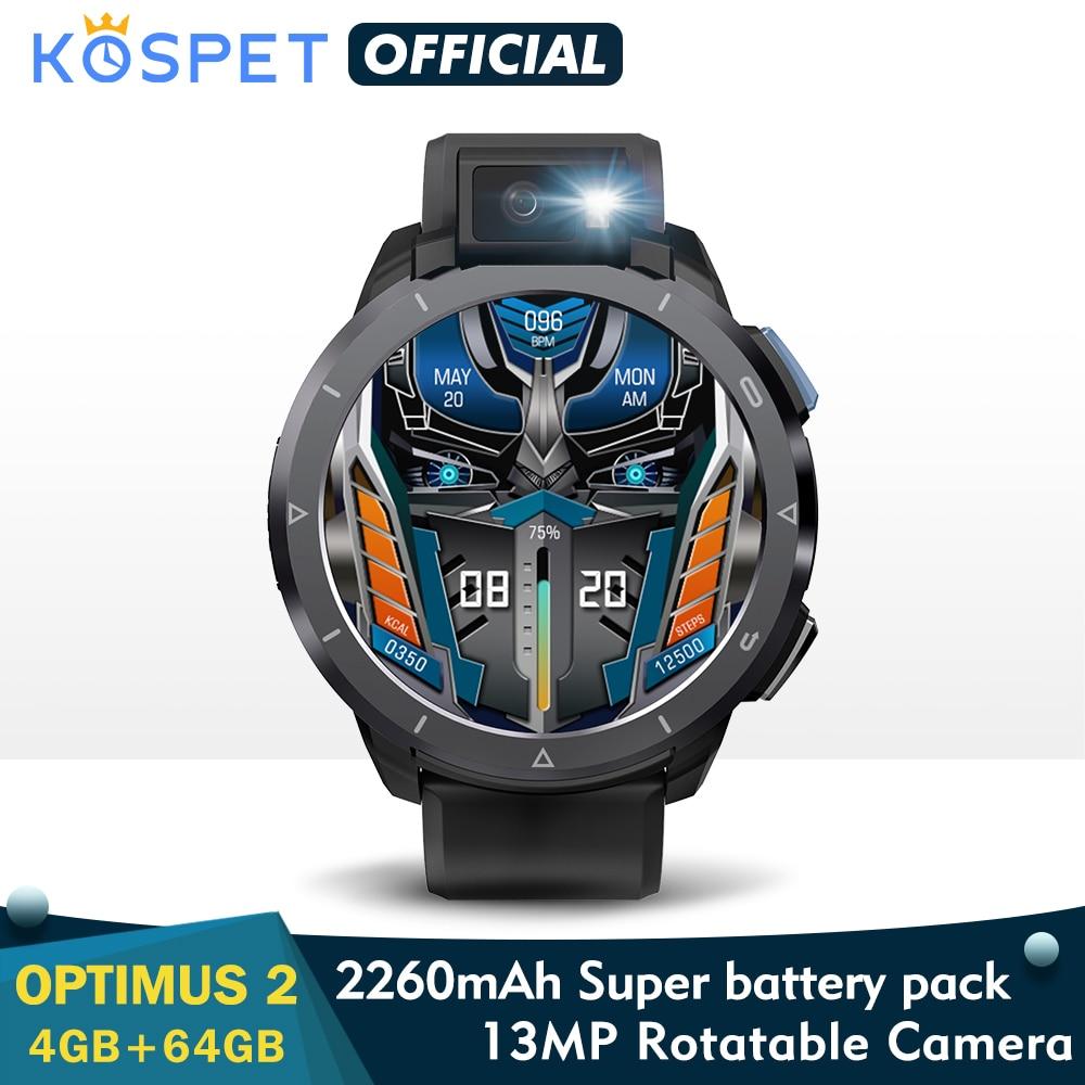 KOSPET Optimus 2 4G Smart Watch Men 4GB 64GB 13MP Camera flash...