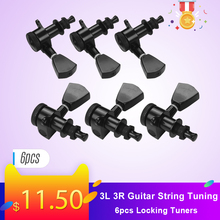 6 шт. 3L 3R гитарные струнные колышки с фиксацией тюнеров машинные головки ручки с крепежными винтами и наконечниками