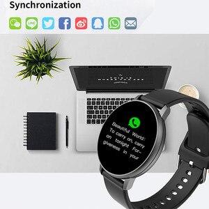Image 3 - 2020 pleine touche montre intelligente hommes pression artérielle Smartwatch femmes étanche fréquence cardiaque Tracker Sport horloge montre pour Android IOS