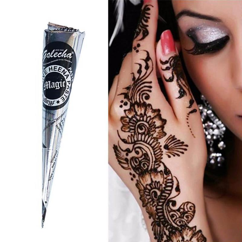 25g Silver Packaging Black  Hanna Tattoo Paste Hand-painted Body Painted Body Art Sticker