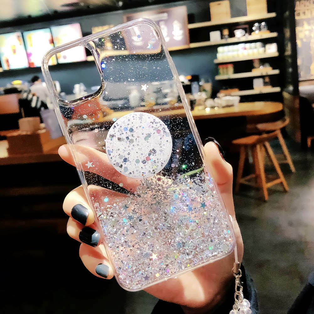 Bling Glitter Standing Case For iPhone Models Plus Slim Case With Stand Holder 9