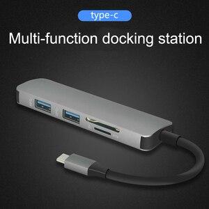 Image 4 - ฮับUSB C HUB HDMI USB 3.0 SD/TF Card Readerอะแดปเตอร์สำหรับMac Book Proอุปกรณ์เสริมUSB CประเภทC Splitter 2พอร์ตUSB HUB