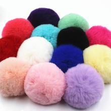 Pompones 8 centímetros Bolas De Pelúcia Fofo Macio Faux Fur Pompom DIY Crianças Brinquedos Decoração Do Casamento Pom Poms Bola de Feltro Costura fontes do ofício Presentes