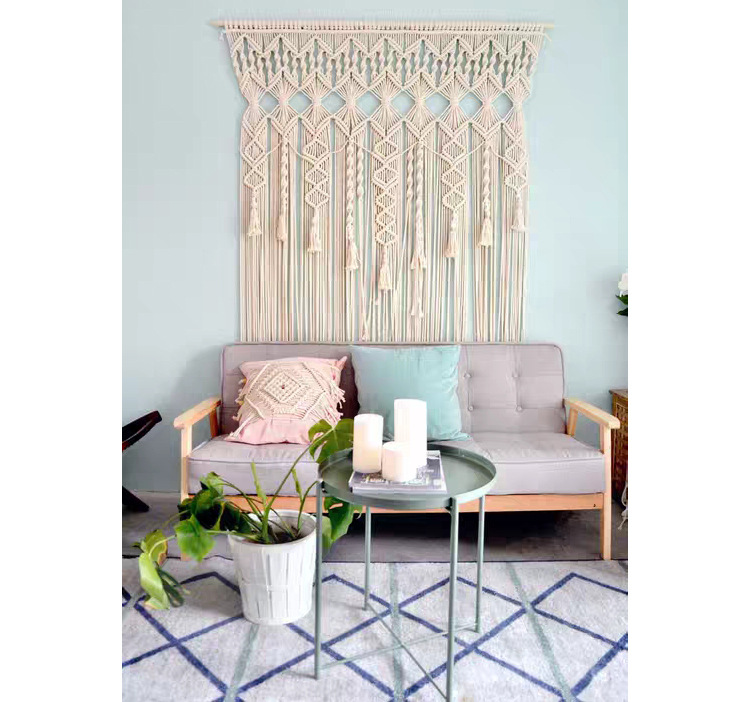 100% coton bohème tapisserie tissé à la main mur tapisserie rideau en plein air mariage décoration maison séjour hôtel tenture décor - 6