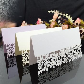 25 sztuk partia Hollow out luksusowy stół nazwa karteczki z miejscem ślub boże narodzenie urodziny zaproszenie karty tabeli dekoracje ślubne tanie i dobre opinie Tak ( 50 sztuk) Ślub i Zaręczyny Party Składane typu Festiwali LYTHK00016