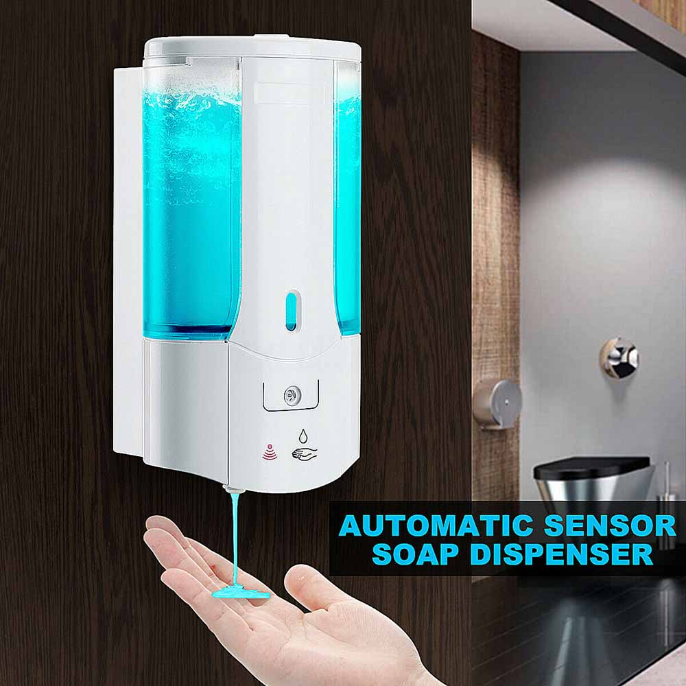Hc4a42adae01e466284558a1495ae7552m 400Ml Automatic Liquid Soap Dispenser Smart Sensor Touchless ABS Electroplated Sanitizer Dispensador For Kitchen Bathroom