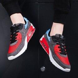 Trampki mężczyźni poduszka powietrzna wrotki low-cut płaskie buty sznurowane buty rekreacyjne oddychające buty sportowe