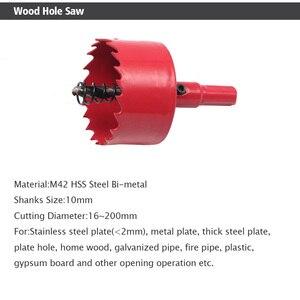 Image 2 - משלוח חינם 16 200mm 1 חתיכה דו מתכת עץ חור מסורים קצת לעיבוד עץ DIY עץ קאטר מקדח