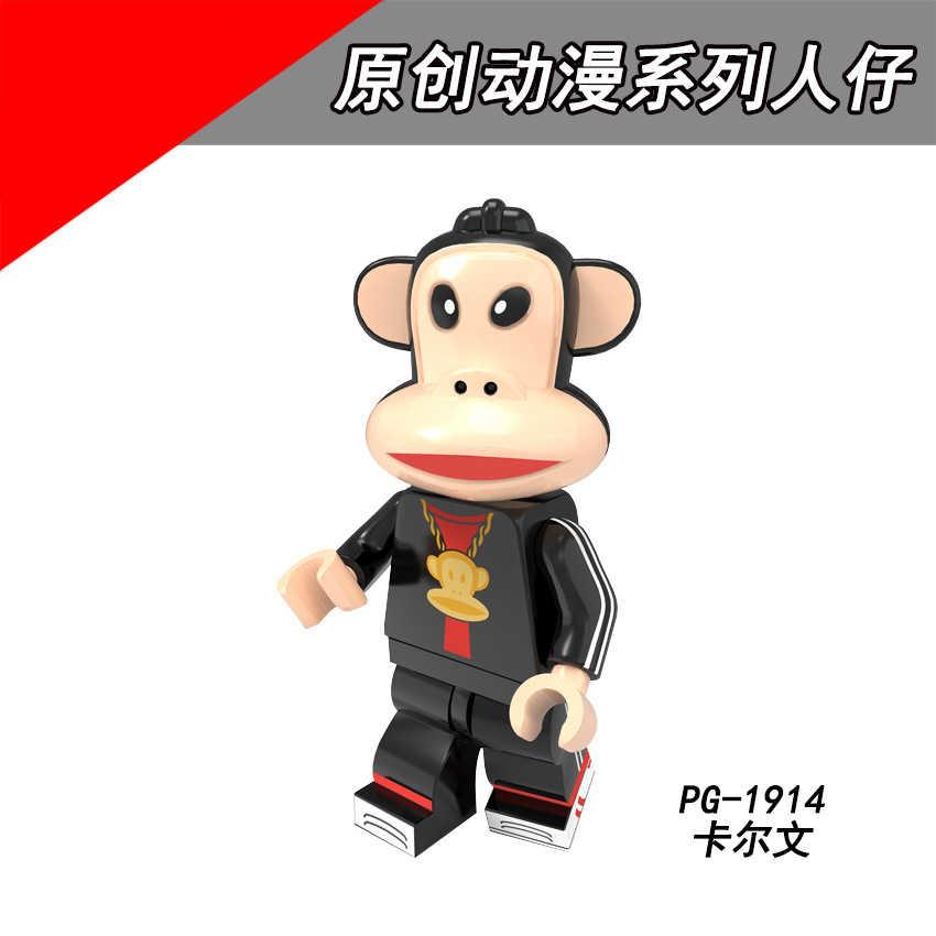 PG8218 Combinado Legoing Bombeamento Original anime série de pessoas Reunidas Cérebro de Macaco Grande boca jogo Blocos de Construção das Crianças gif
