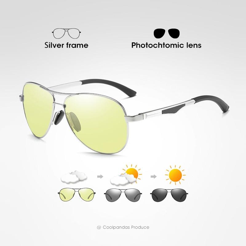 2020 Aviation Driving Photochromic Sunglasses Men Polarized Glasses Women Day Night Vision Driver Eyewear UV400 zonnebril heren 7