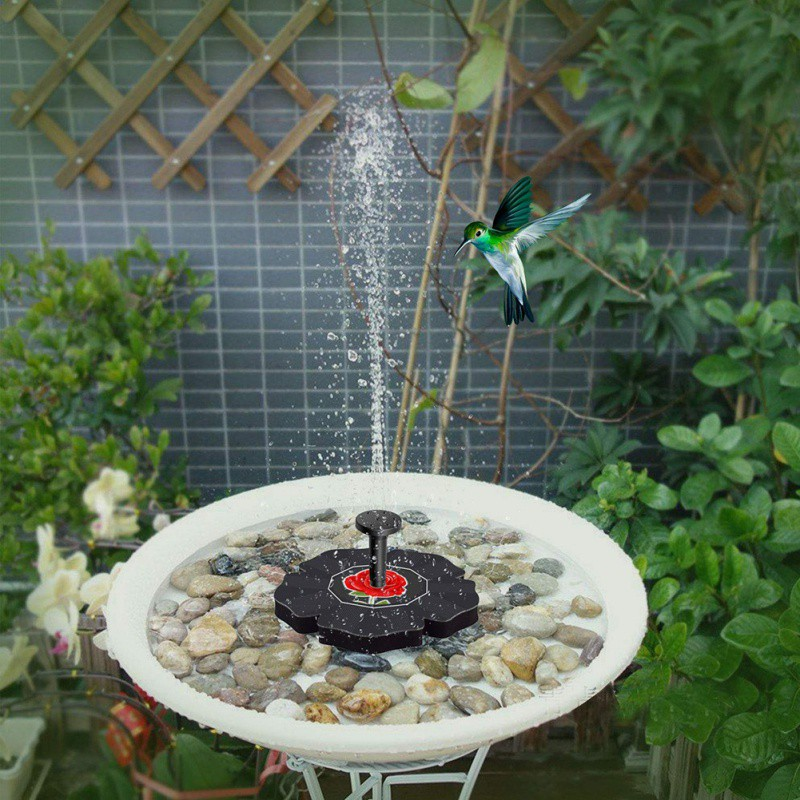 Solar Floating Fountain Water Features Nozzle Bird Bath Garden Pool Pond Solar Panel Fountain For Park Garden Decoration