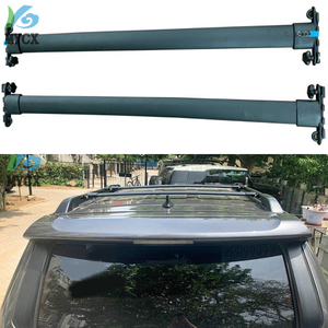 Czarny samochód Top bagażnik dachowy belki poprzeczne zamykany Bar bagażu nośnik transportowy stojak kompatybilny Fit dla Toyota 4Runner TRD Pro 2010-2019