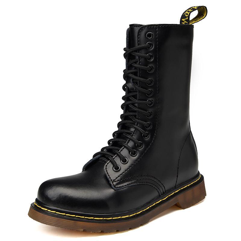 Flambant neuf hiver unisexe haut désert tactique militaire bottes hommes travail chaussures de sécurité automne moyen Tube hommes bottes Botas 35-48