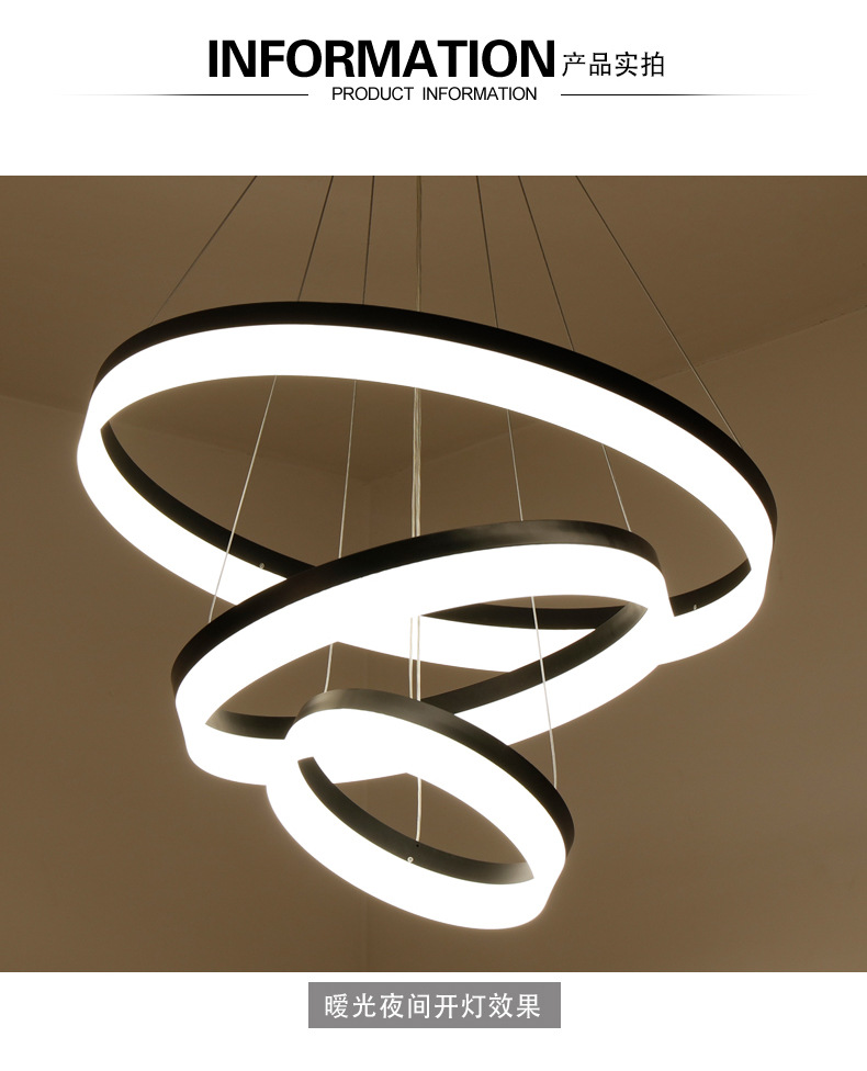 Bola de vidro moderna led nordic lâmpada