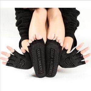 Женские носки для йоги, быстросохнущие Нескользящие силиконовые спортивные носки для пилатеса и балета, дышащие спортивные носки, Перчатки...