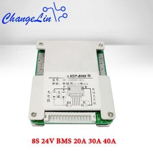 Image 1 - 8S 24V BMS Li Ion Lipo Lifepo4 литиевая батарея Защитная плата 20A 30A 40A общий порт баланс EBike EV Cell Pack DIY модуль