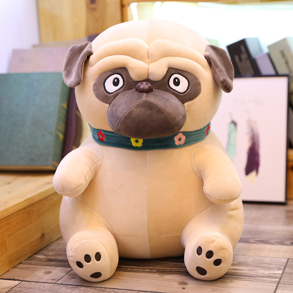 New 1pcs 25cm Plush Lovely Toy Stuffed Animal Doll Simulation Cute Dog Puppy Shar-pei Dog Kawaii Christmas Birthday Gift