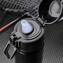 PINKAH nuevo 500ML adulto termo de acero inoxidable pajita, termo taza botella de agua con soporte copa de aislamiento