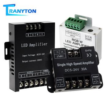 Wzmacniacz taśmowy LED DC5V-24V pojedynczy wzmacniacz kontrolera wysokiej prędkości dla pojedynczy kolor RGB RGBW Light Power Repeater Console tanie i dobre opinie TRANYTON CN (pochodzenie) common anode DC5-24V Single High Speed Amplifier for Single Colour LED Strip 3528 5050 Aluminum