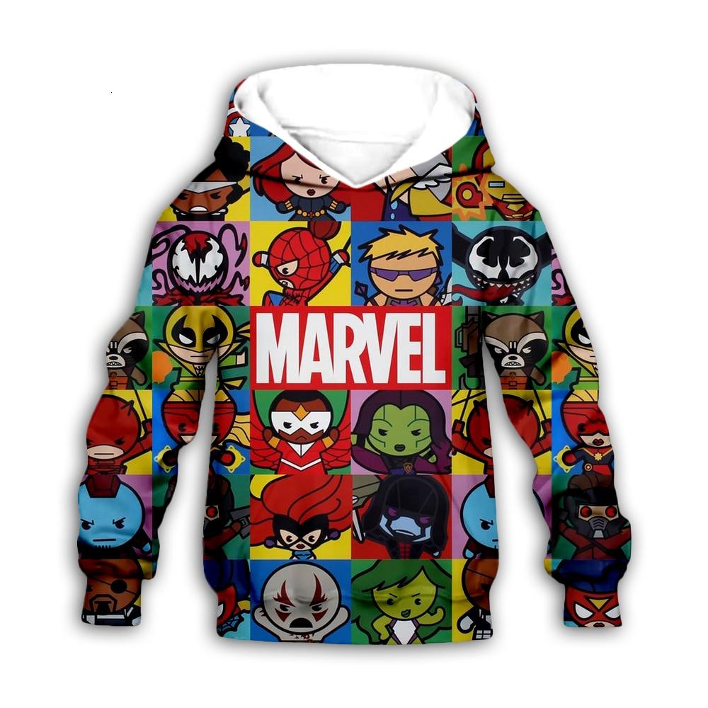 Kids Boys 3d Hoodies Avengers Marvel Superhero Iron Man Thor Hulk Captain America Spiderman print Sweatshirt Cartoon Jacket
