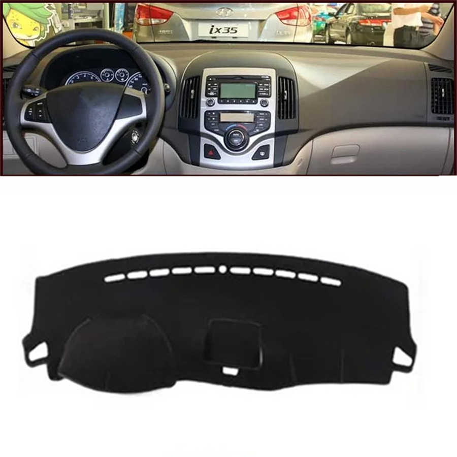 SJ Car Inner Auto Dashboard Cover Dashmat Pad Carpet Sun Shade Dash Board Cover FIT For HYUNDAI I30 2010 2011 2012 2013 14-2017