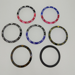 Image 2 - 38mm cerâmica moldura inserir para 40mm gmt relógio oiginal cerâmica red & black bezel insert para parnis 40mm relógio automático pa2105