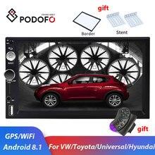 Podofo 2dinカーラジオのandroid車のマルチメディアプレーヤーのための2喧騒車autoradio gpsフォルクスワーゲン日産トヨタ起亜フォードステレオ