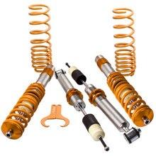 4PCS Coilover Suspensions Kit  Adjustable For BMW E39 5 Series Sedan for 520 530 540 528 518i 520i 523i 528i Front Rear 97 03