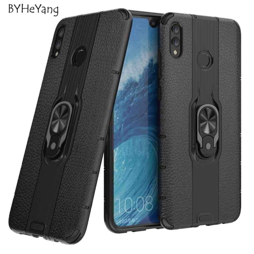 Per Capa Huawei Honor 8X Caso di Lusso Anello Magnetico Supporto Del Respingente Antiurto Armatura Per Il Caso di Huawei Honor 8 X X8 8XMAX MAX Copertura