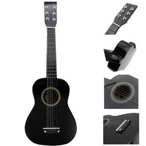 Acoustic-Guitar Pick-And-Strings Basswood Black Kids/beginners 12-Frets 23inch Mini IRIN