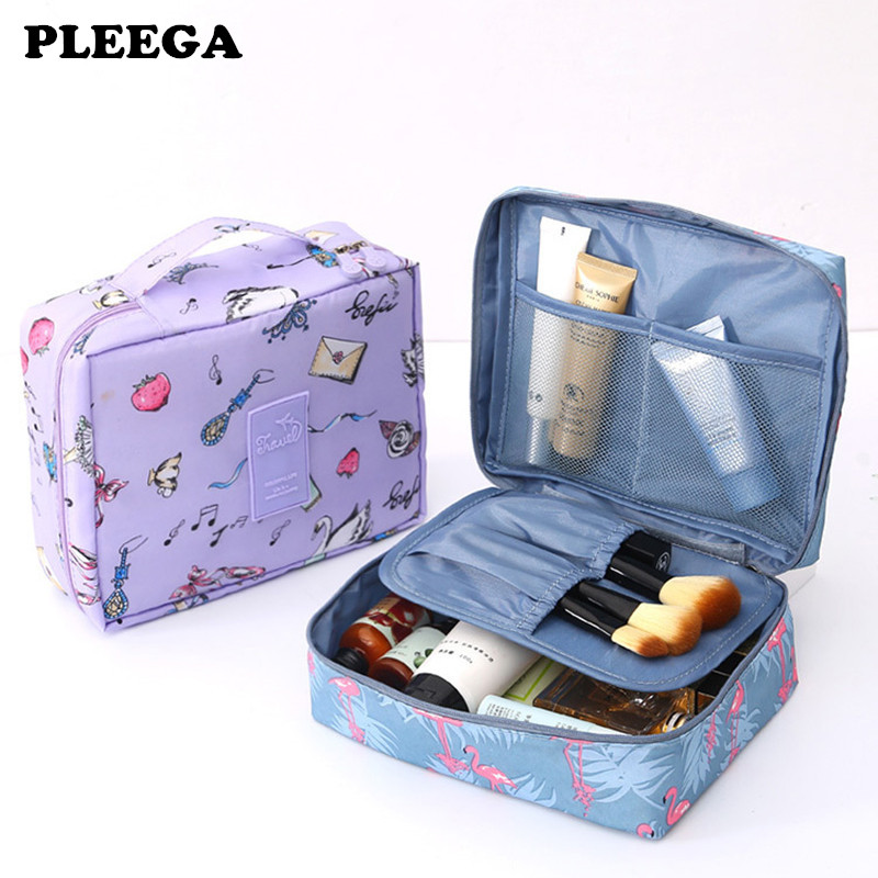 PLEEGA Brand Women Cosmetic Bag Multifunction Organizer Waterproof Portable Makeup Bag Travel Necessity Beauty Case Wash Pouch