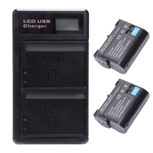 2 Pcs En-El15 Battery And Lcd Dual Battery Usb Charger For Nikon Z6, Z7, D850, D810, D810A, D800, D800E, D7500, D7200, D7100