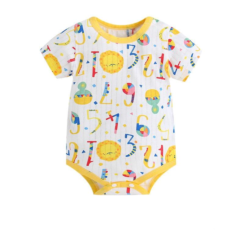 2017 Newborn Summer Rompers Cute Deer Roupa De Bebes Baby Girl Boy Jumpsuit Floral Romper Infantil Outfit Clothes Coveralls