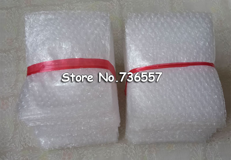 100PCS 80*100mm Plastic Wrap Envelope White Bubble Packing Bags PE Clear Bubble Bag Shockproof Bag Double Film Bubble Bag