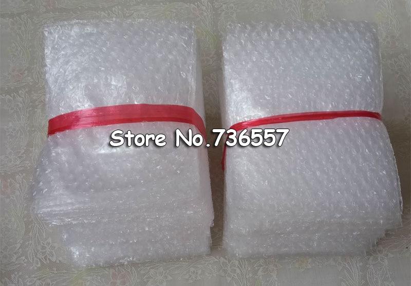 100PCS 80*100mm Plastic Wrap Envelope White Bubble Packing Bags PE Clear Bubble Bag Shockproof Bag Double Film Bubble Bag