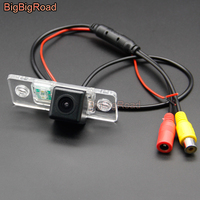 BigBigRoad For Skoda Fabia 2008 2010 2011 2012 2013 Octavia RS Superb Vehicle Wireless Rear View Reversing Camera HD Color Image