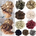 Пучок волос для наращивания, Кудрявые Волнистые волосы, синтетический шиньон, шиньоны, синтетический пончик, кудри для женщин