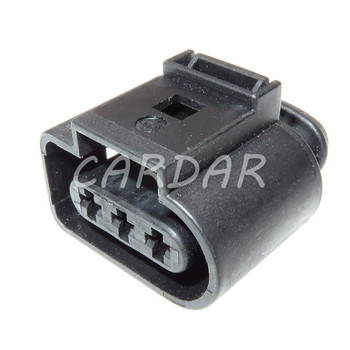 1 Set 3 Pin 1J0 973 723 1J0973723 Waterproof Car Plug Automotive Wire Electrical 3.5mm Connector For VW image