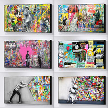 Street Pop Art Banksy Graffiti Art Canvas Paintings Posters and Prints Cuadros Wall Art Pictures for Home Decor