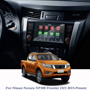For Nissan Navara NP300 Frontier D23 2015-Present Car Styling GPS Navigation Screen Glass Film Dashboard TPU Display Film image