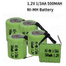 8 pacote KX Original Nova 1.2V 1/3AA 500mAh Ni-Mh 1/3 AA Ni-Mh Recarregável Bateria Com Pinos frete Grátis