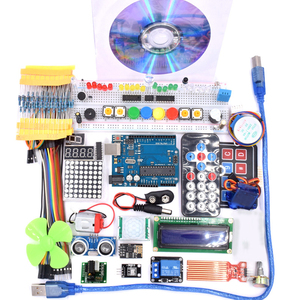 Image 2 - Wifi 모듈, 130 모터, HC SR501, 1602, 릴레이, HC sr04, arduino uno r3 용 RGB 모듈이있는 슈퍼 스타터 키트